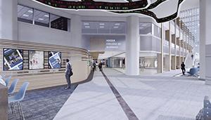 Harper Center Renovations - Updated Entrance