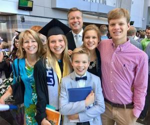 Clara Jace and her family at graduation