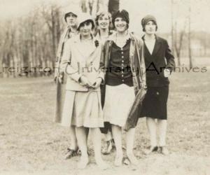 5 Ladies at the 1928 Commerce Picnic Creighton University