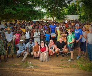 Group shot in West Africa